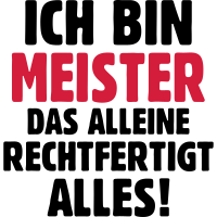 Meister Meisterbrief Beruf Geschenke T-Shirt