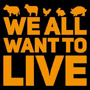 Tierschutz Vegan Animal Rights Spruch Geschenk