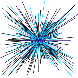 Farb Explosion - Linien Formen Muster