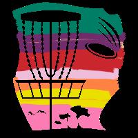 Frisbee Golf Baum Retro Spiel Par Geschenk