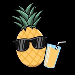 Ananas Sommer Sonnenbrille