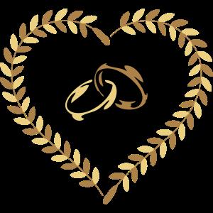 Heirat glück Herz Ringe