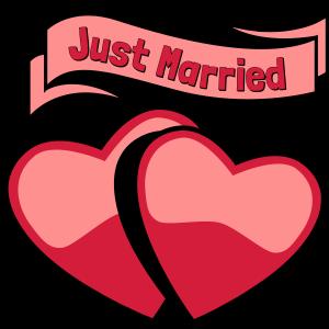 Heirat glücklich zwei Herzen Liebe