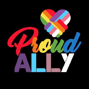 Proud ally Pride ally LGBTQ Ally Trans Bi Schwul