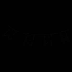 Party deko Geburtstag Girlande Dekoration Geschenk