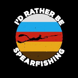 Retro Spearfishing Underwater Freediving Fishing