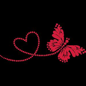 Schmetterling in Love,Herz,Liebe ,Valentinstag