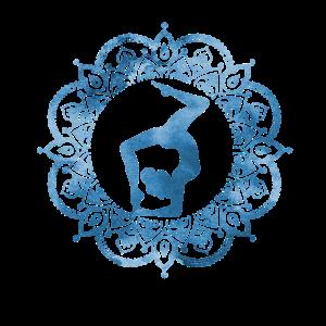 Yoga Frau in blau