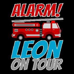 Leon Feuerwehrauto Kind Junge Geburtstagsgeschenk