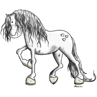 Edles Barockpferd