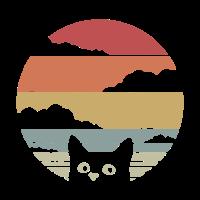 cat retro style classic animals black cat colorado