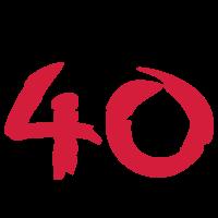 über 40 ü40 ü 40 Geschenke Geburtstag T-Shirt