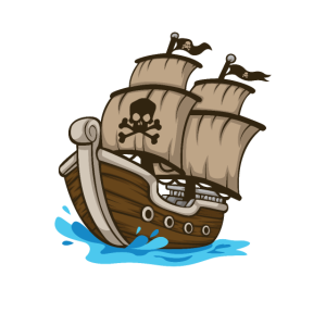 Pirat Piratenschiff Geschenk Kindermotiv Totenkopf