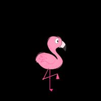 Summertime mit Flamingo
