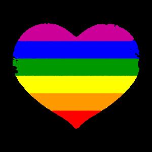 Regenbogen Herz In Streifen LGBT Pride Geschenk