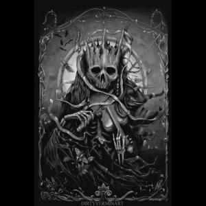 Dark Fiddler Poster Black