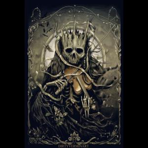 Dark Fiddler Poster Sepia