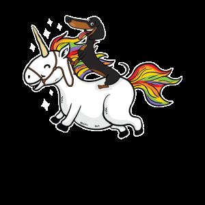 Einhorn Dackel Unicorn Geschenkidee
