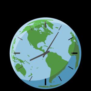 Taschenuhr Globus Die Zeit tickt!
