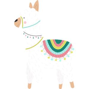 LAMA ALPAKA Symbol Baby Festival