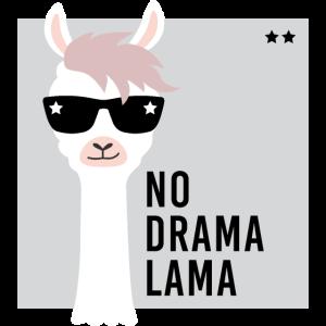 No Drama Lama Geschenk Alpaka Shirt Sonnenbrille