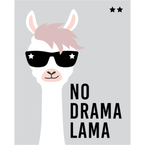 No Drama Lama, Alpaka, Geschenkidee Shirt