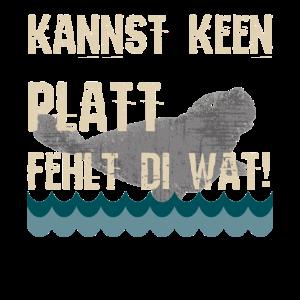 Plattdeutsch Robbe Platt Spruch T-Shirt