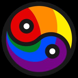 Yin & Yang - Regenbogenfahnen LGBT Edition