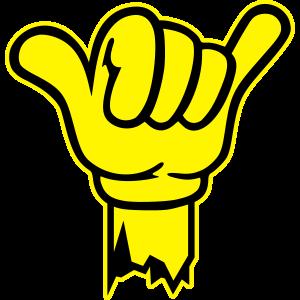 hand shaka finger