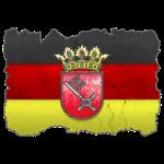 Bremen Wappen auf Deutschlandfahne in Stein