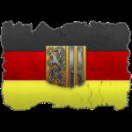 Dresden Wappen auf Deutschlandfahne in Stein