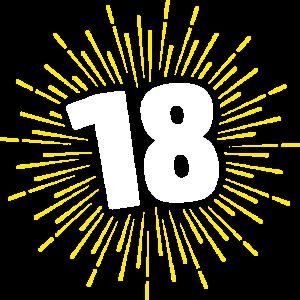 18 | GEBURTSTAGSSHIRT | FEUERWERK