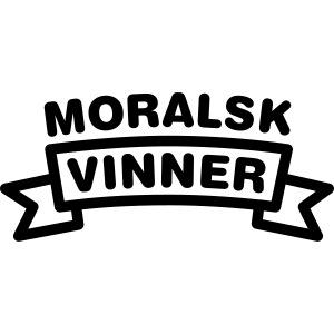 Moralsk vinner, fra Det norske plagg