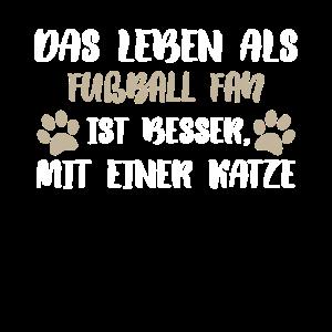 Fußball Fan Katze Katzen Katze Kätz Fußballer Socc