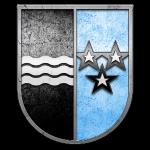 Schweiz Kanton Aargau Wappen in Stein gemeißelt