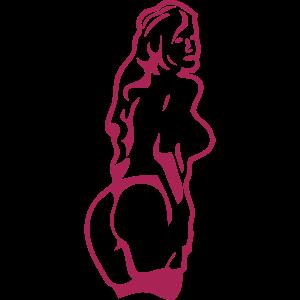 Frau Muskel Bodybuilding