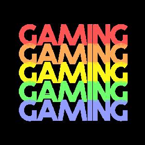 Bunter Gaming Schriftzug