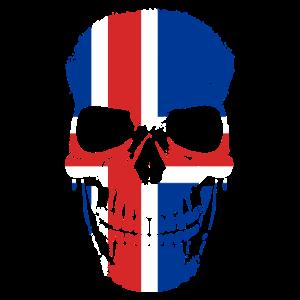 Island Flagge Isländischer Schädel