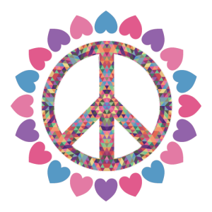 Hippie T-Shirts   Peace-Zeichen Liebe Geschenke