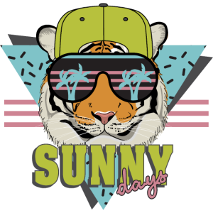 cool tiger sonnenbrille sunny days