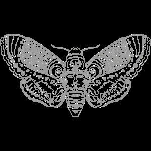 Minimalistische Motte Sommer Tattoo