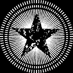 Stern mit Schein im Hintergrund