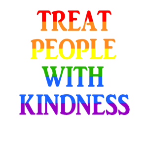 Treat People With Kindness LGBT Pride Geschenk