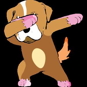 Cute Dabbing Dog funny Tee