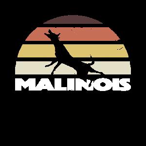 Malinois Retro Vintage Silhouette