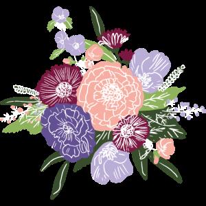 Florales Muster Blumenstrauss