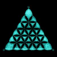 Blume des Lebens Kornkreis, Flower, life, Dreieck