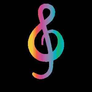 Bunte Musiknote