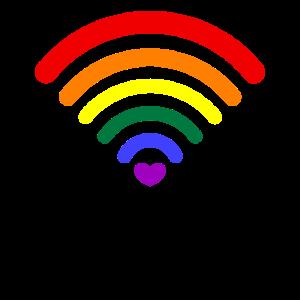 LGBT Gay Pride Schwul Lesbisch Love Wifi Signal