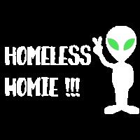 Alien Kopf mit Peace - Homeless